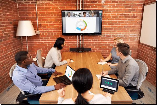 Sala de conferencias con el sistema GoToRoom