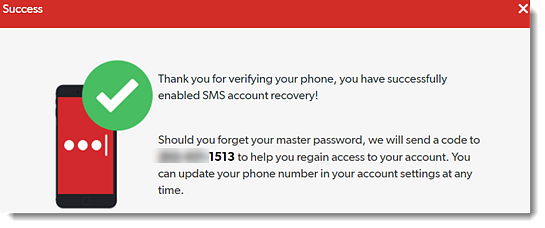 Set Up SMS Account Recovery