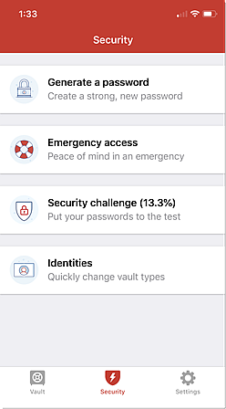 Opções de segurança iOS