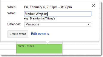 Planen eines Meetings im Google Kalender