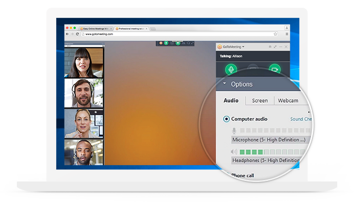 GoToMeeting Features Built-In Audio