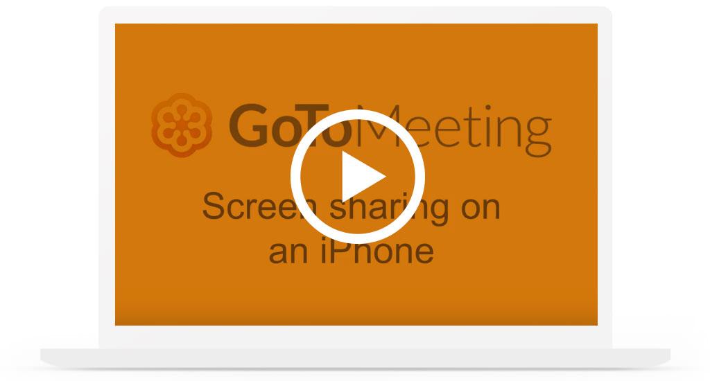 GoToMeeting iPhone Screen Sharing Video