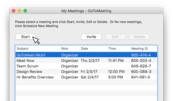 GoToMeeting One Click Meetings