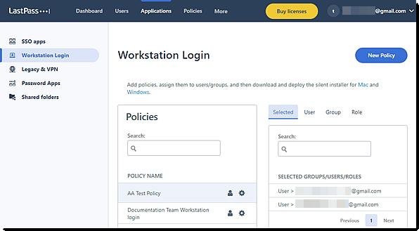 Beleidsregels voor Workstation Login in de nieuwe Admin Console