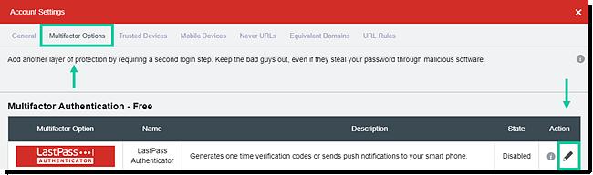 Optie meervoudige verificatie bewerken