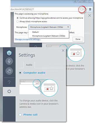 Connect to Audio using the Internet (Mic and Speakers)