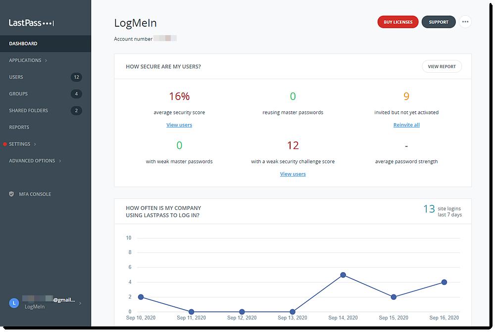 Vorige Admin Console voor LastPass Enterprise en Lastpass Identity