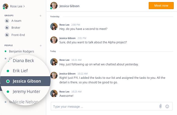GoToMeeting Messenger Chat