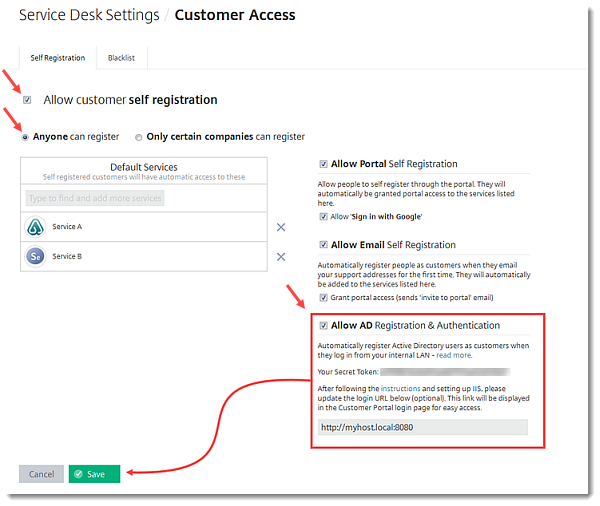 Configure Customer Portal Access Permissions