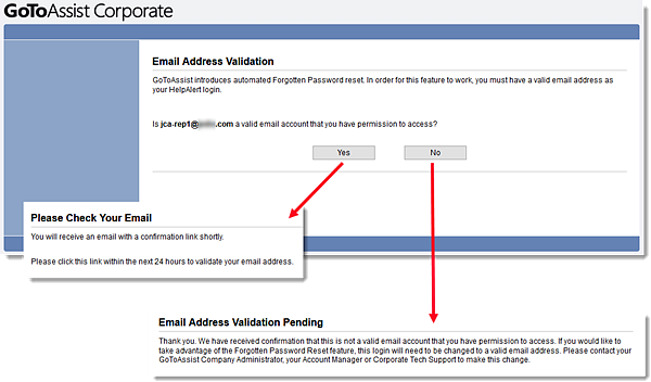 Validating email account on blackberry