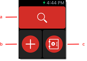Search, add, or access Vault on Apple Watch