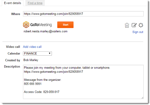 Modify a Meeting in Google Calendar