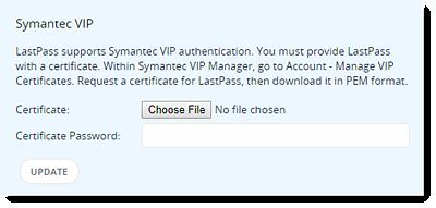Configure Symantec VIP Authentication