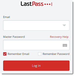 Web browser extension login window