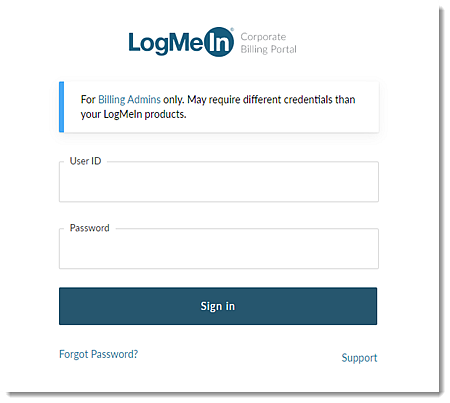 Login no Portal de Cobrança Corporativa