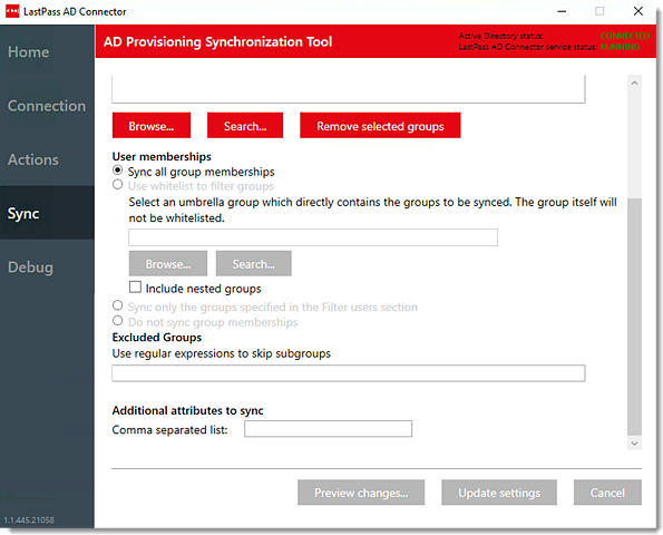 Set Up the LastPass Active Directory Connector