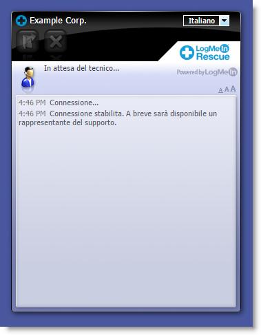 Interfaccia standard di Instant Chat