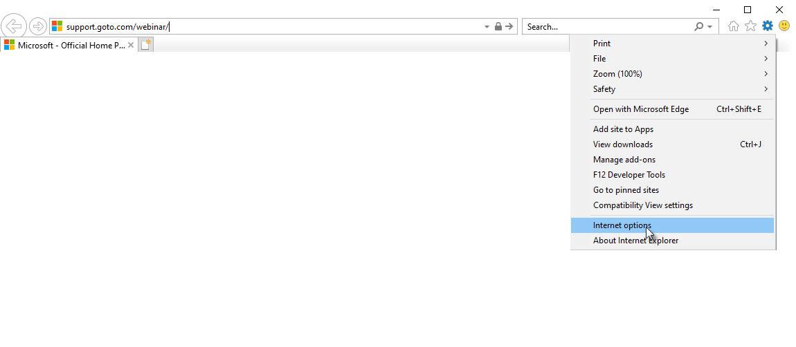 Erweiterte Einstellungen von Internet Explorer