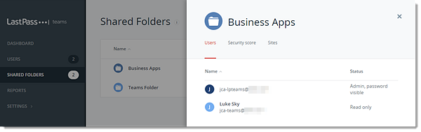 Gebruikers van gedeelde mappen in de Teams Admin Console