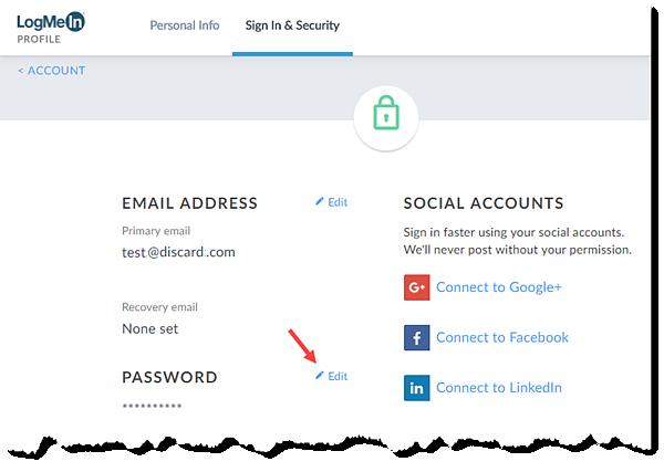 Edit Password