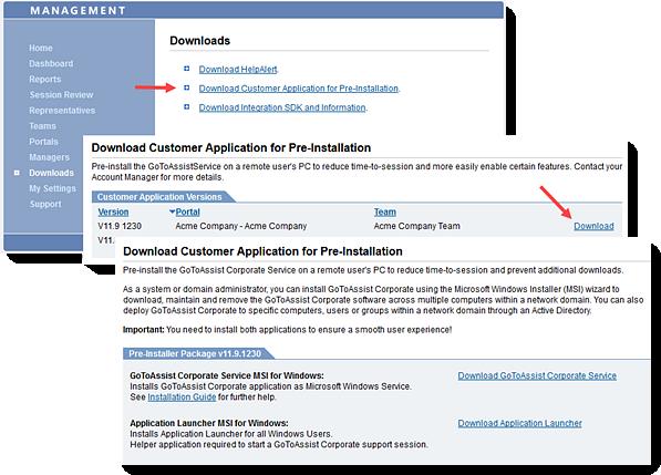 Download the GoToAssist Corporate Customer Pre-Installation