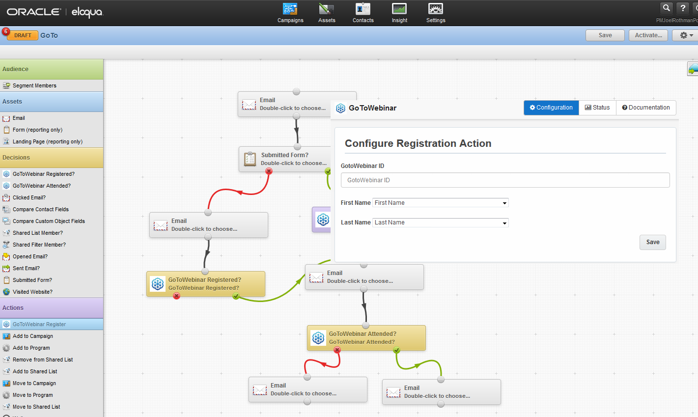 G2W US IM Oracle | Eloqua and GoToWebinar Screenshot