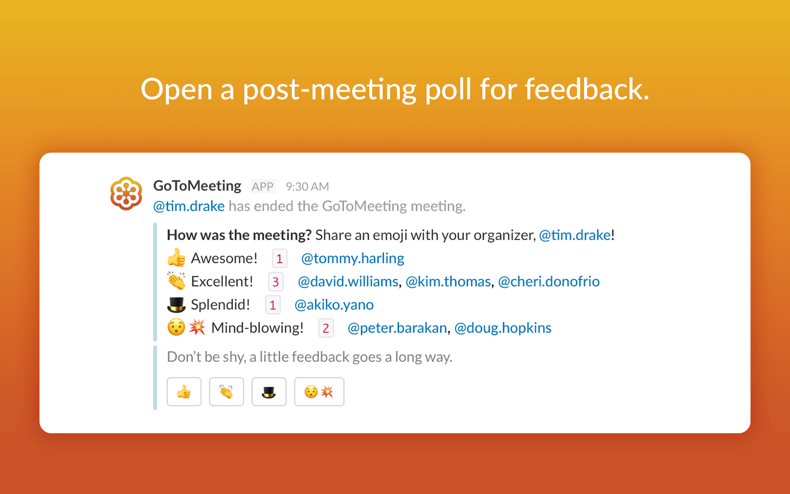 GoToMeeting Slack Poll
