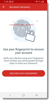 Recover with Fingerprint on Android