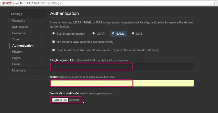 Github SAML integration