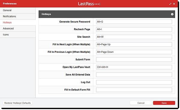 lp preferences hotkeys - How Do I Get Lastpass To Autofill On Mac