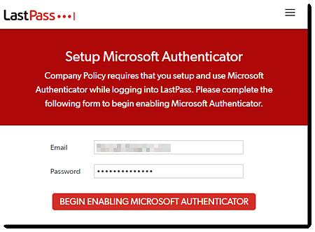 Configurar o Microsoft Authenticator