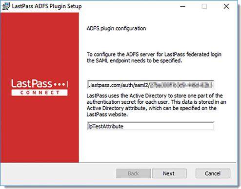 Configuração do plugin do ADFS