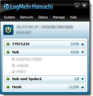 El cliente de Hamachi