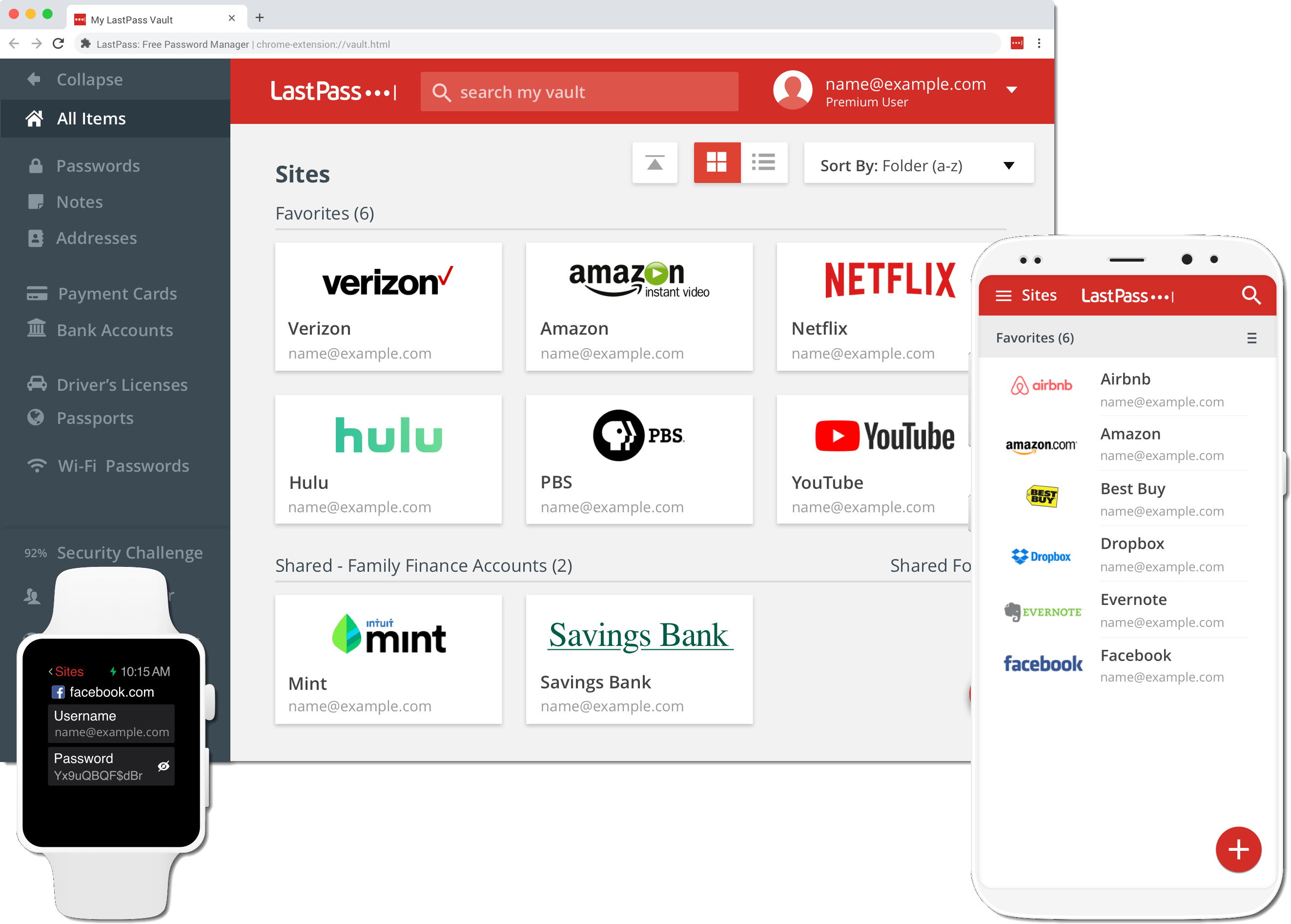 LastPass Vault on all devices