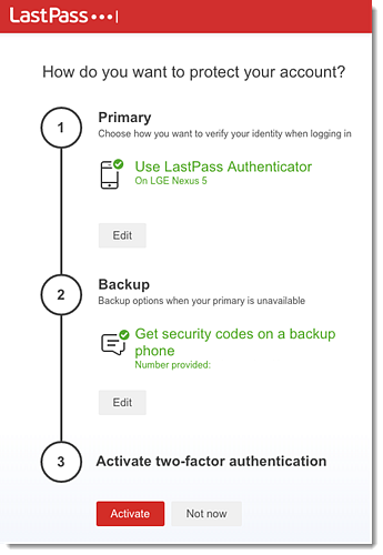 Use the LastPass Authenticator