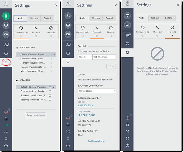 Web App Switch Audio Modes