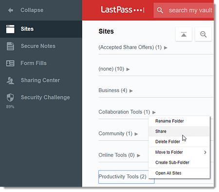 Manage LastPass Enterprise Shared Folders (Users)