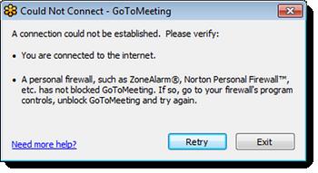 Windows Live Verbindungsfehler