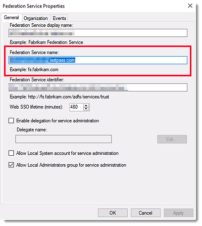 Set Up Federated Login for LastPass Enterprise using AD FS