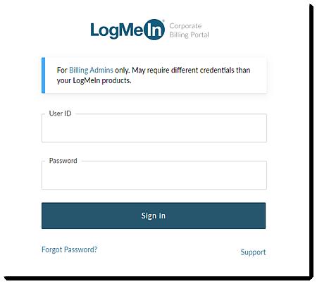 Connexion au Corporate Billing Portal