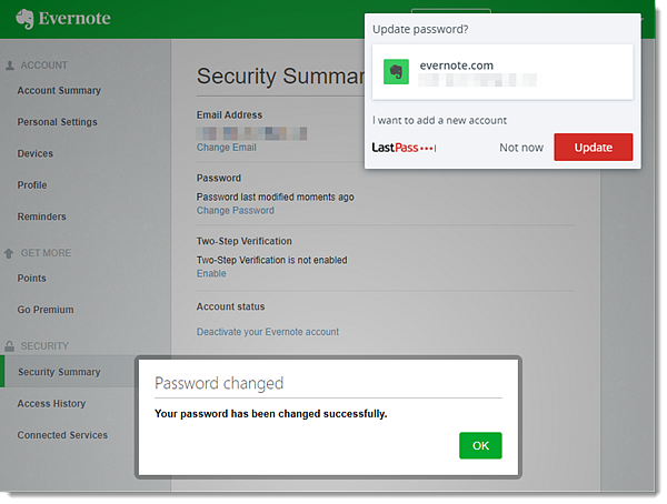 Change Site Passwords