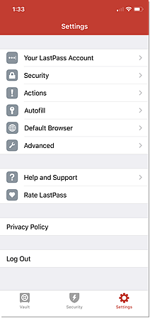 iOS Settings Options