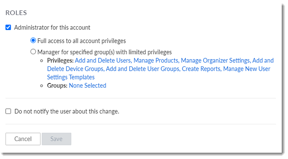 Manage User Roles