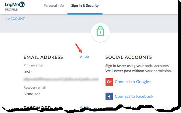 Edit Email Address