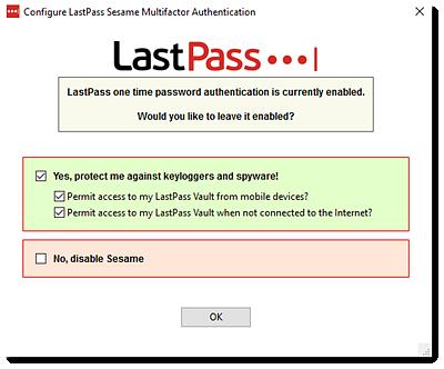 Use Sesame Multifactor Authentication
