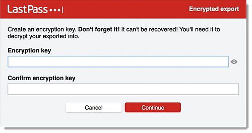 Create encryption key