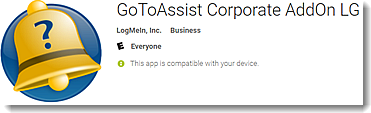 Customer Experience Using the GoToAssist Corporate App for Android