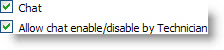 Chat enabled + Enable/Disable allowed