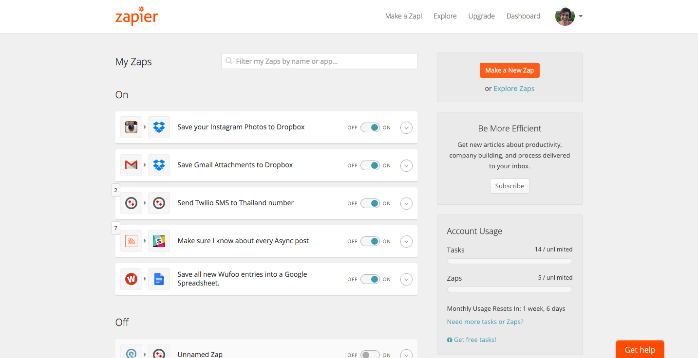 Zapier with GoToTraining Screenshot 2