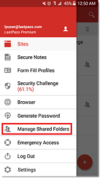 lastpass generate password android app